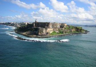 Puerto Rico ocean beach rocks sky