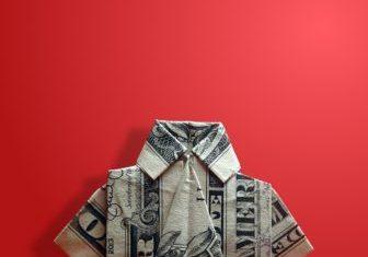 shirt dollar origami paper